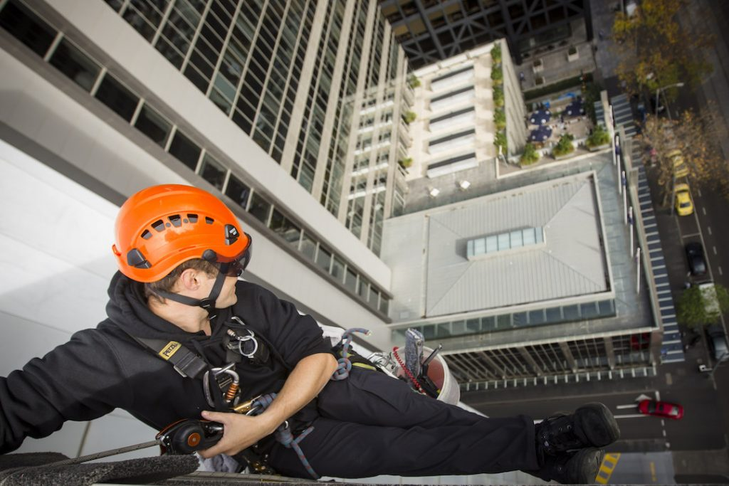McPherson Window Cleaning Height safety high rise window cleaning